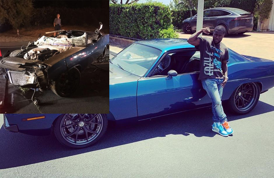 Kevin Hart\u0027s classic cars ended up in a ditch , GrindFace TV