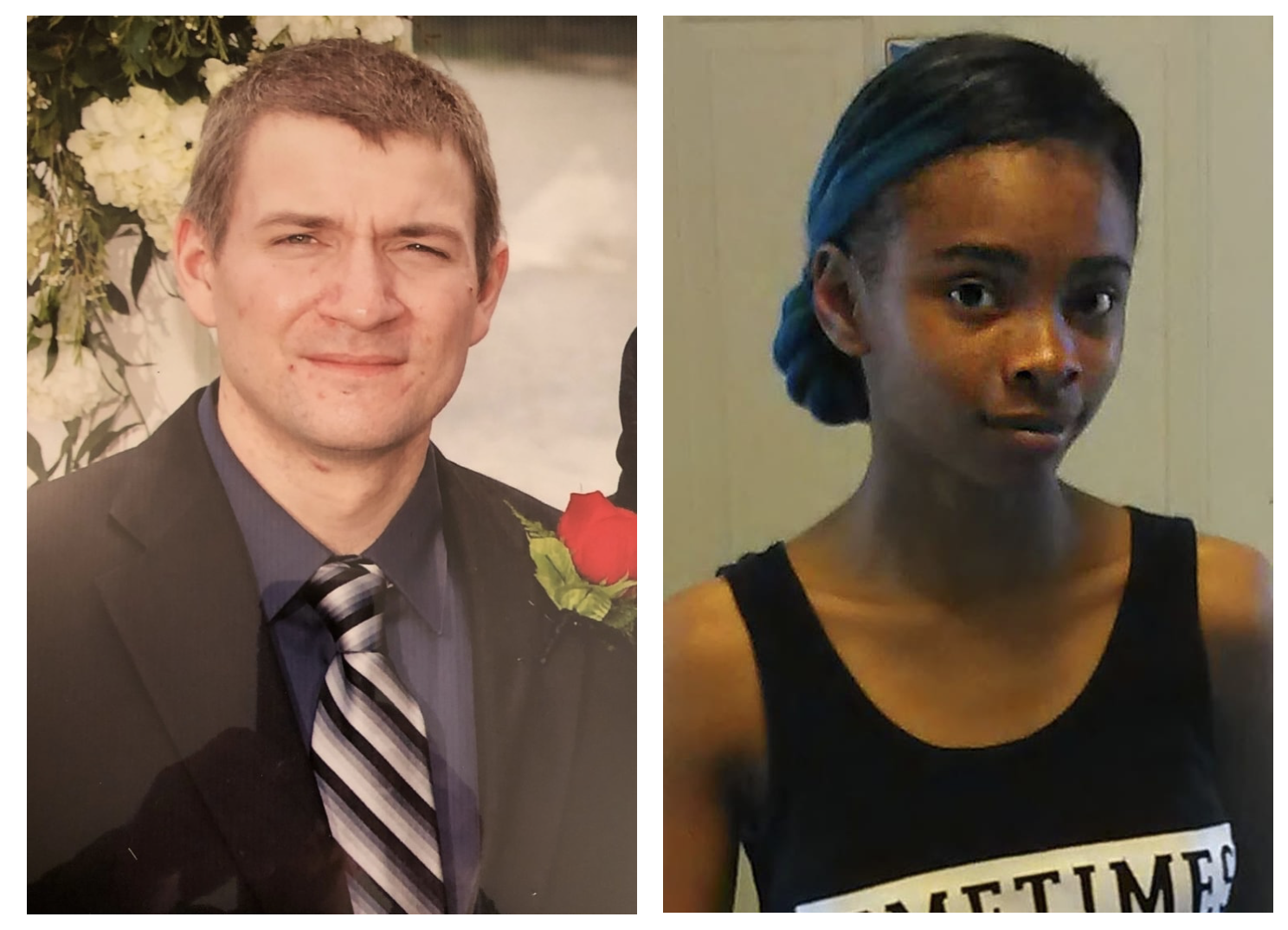 LEFT: Randall Phillip Volar III, who went by Randy, at his father's wedding in 2012. (Family photo) RIGHT Chrystul Kizer, seen in 2016, the same year she met Volar. (Family photo)