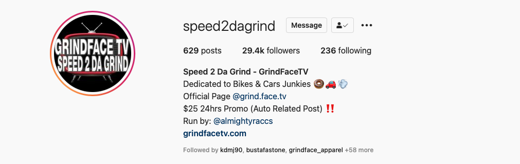 Follow Speed 2 Da Grind