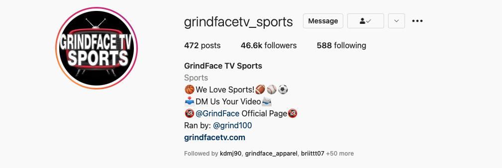 Follow GrindFace TV Sports