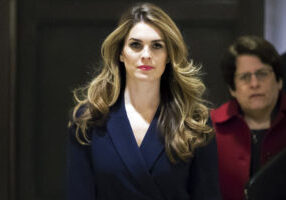 Mandatory Credit: Photo by J. Scott Applewhite/AP/REX/Shutterstock (9442470h) White House Communications Director Hope Hicks, one of President Trump's closest aides and advisers, arrives to meet behind closed doors with the House Intelligence Committee, at the Capitol in Washington Trump Russia Probe, Washington, USA - 27 Feb 2018