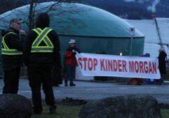 stock-kinder-morgan-trans-mountain-anti-pipeline-protestors-protest